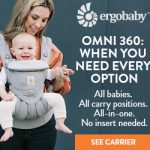 The ergobaby omni 360 forward facing baby carrier