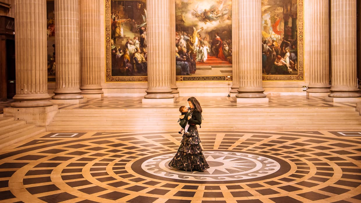 Dancing with Lisa inside the pantheon in Paris.