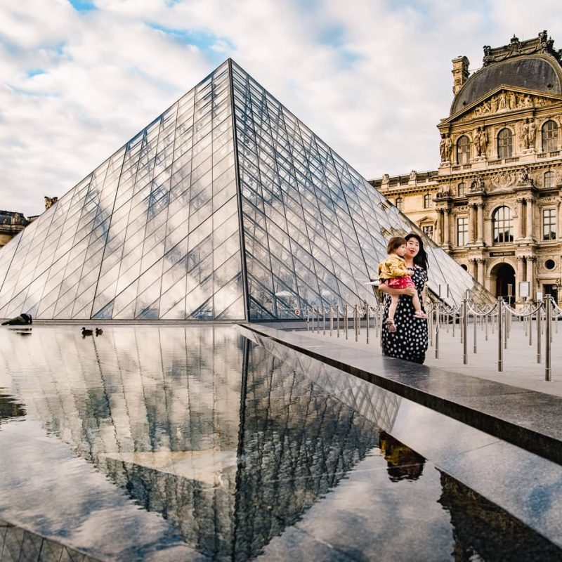 Photographing the Louvre Pyramid in Fall and Spring
