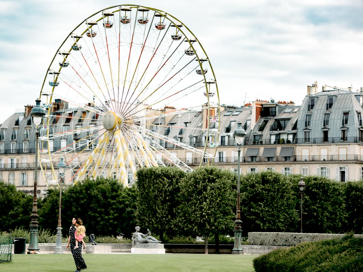 A Ferris wheel in the jardin des Tuileries in Paris.