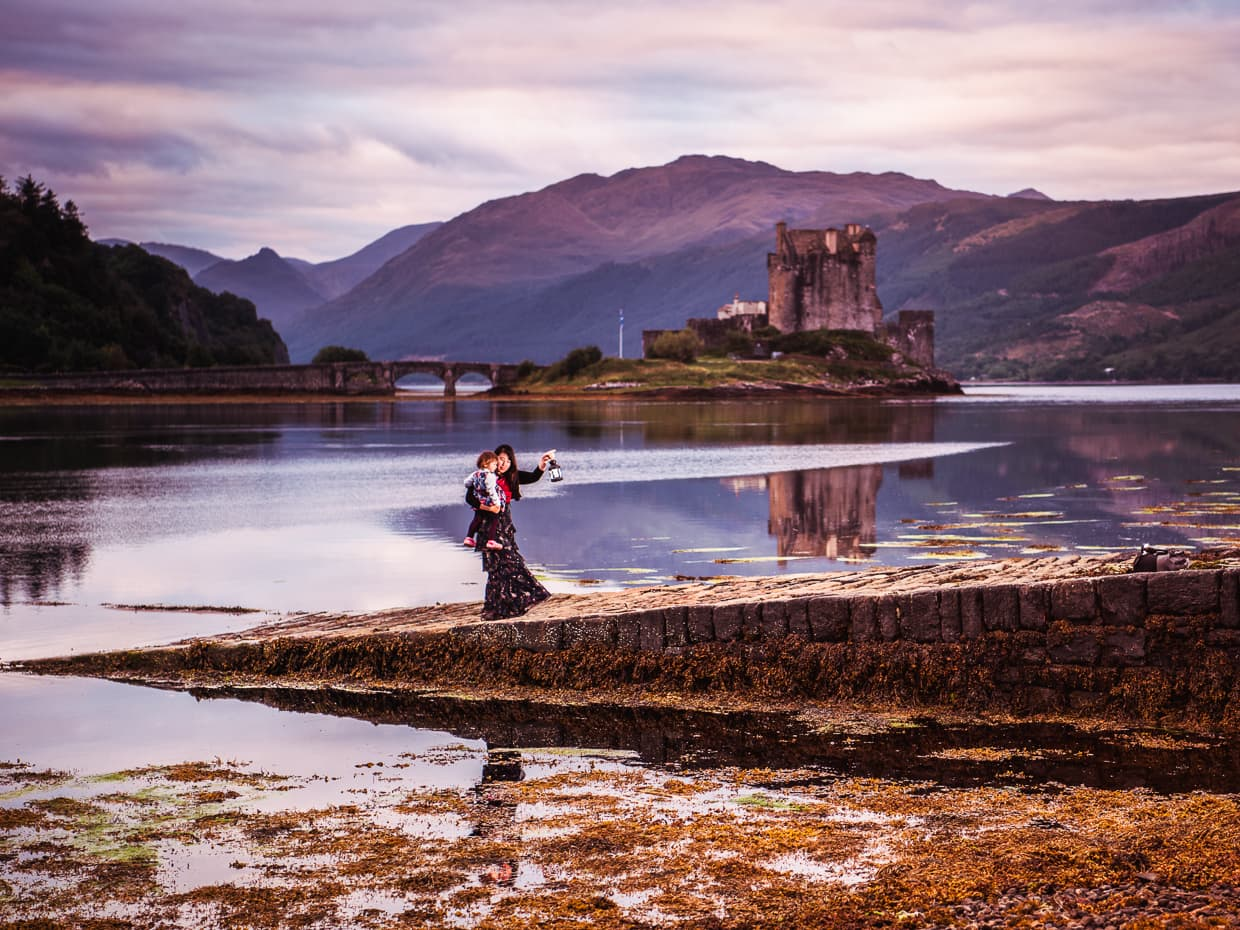 Slow travel gives us the chance to take photos like this one at Eilean Donan Castle in Scotland.
