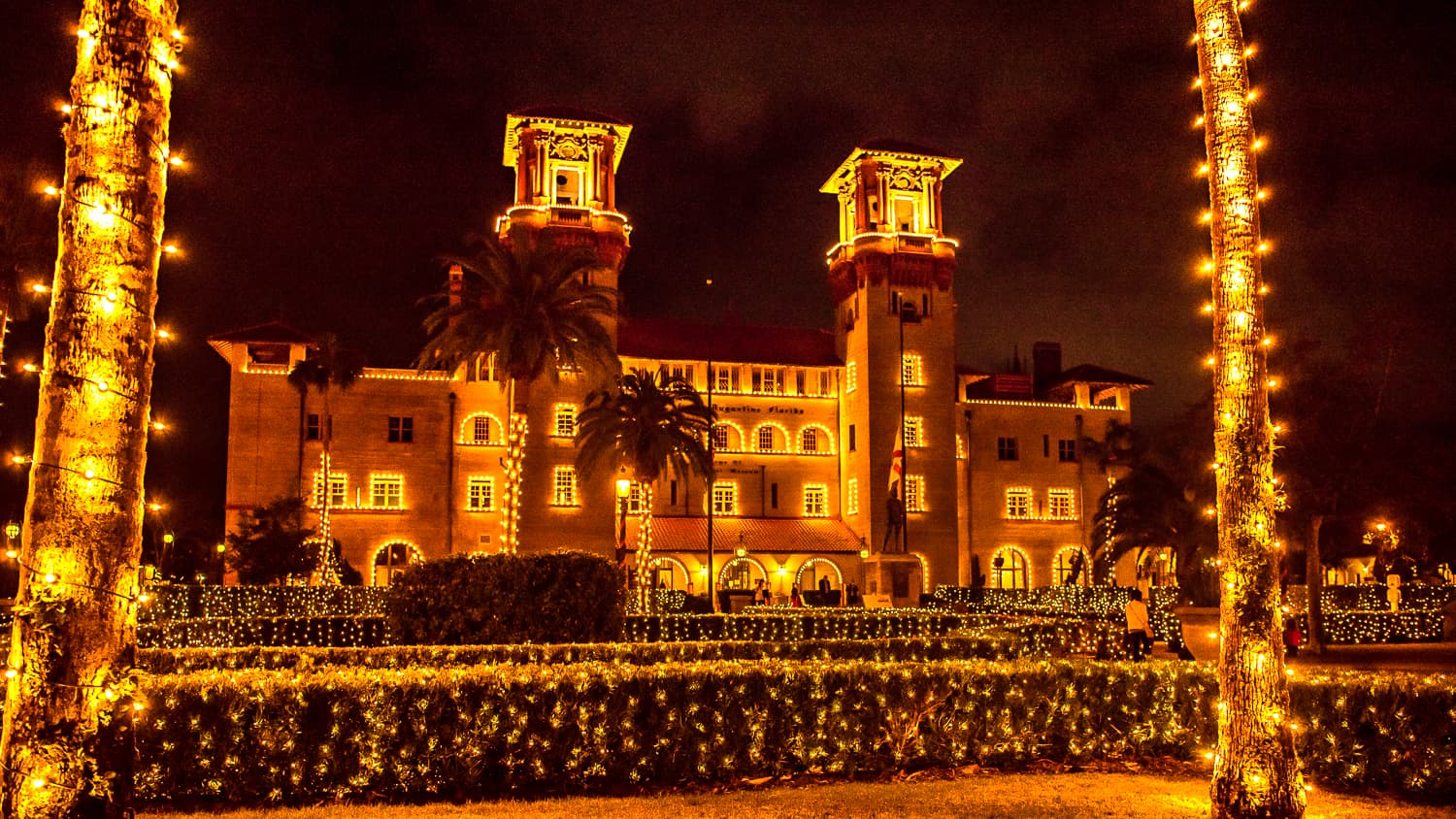 Beautiful Christmas lights in St. Augustine, Florida