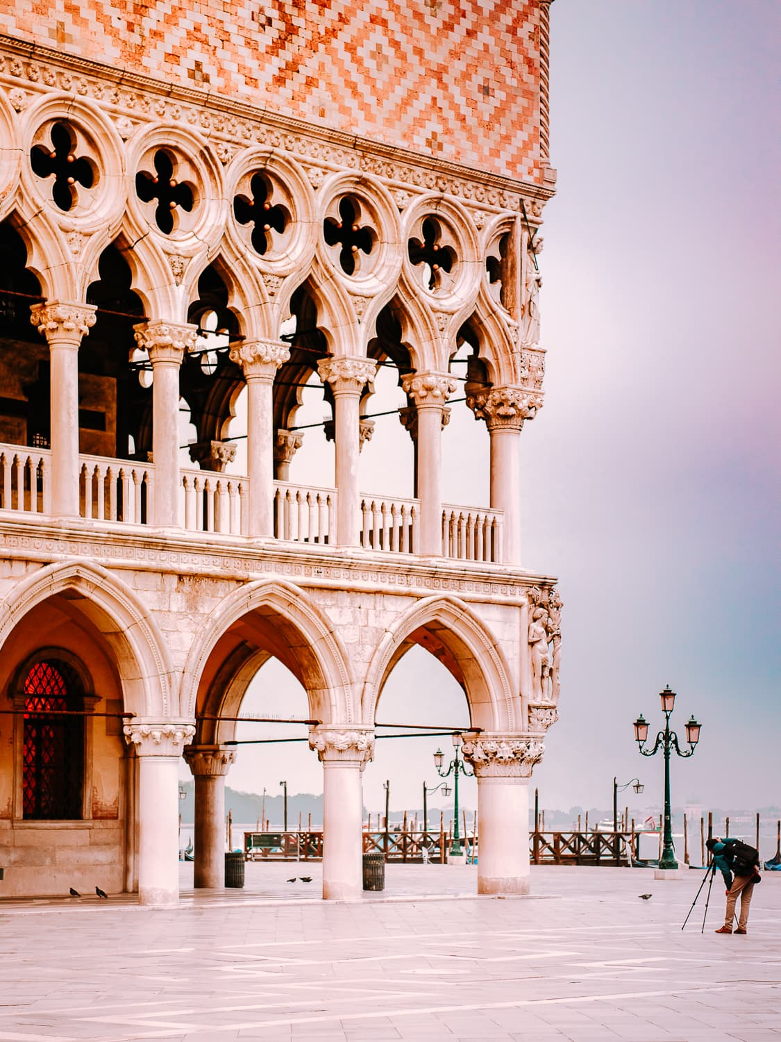 The Doge's Palace near Piazza San Marco in Venice.