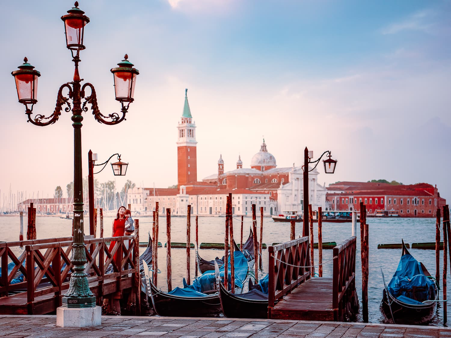 The view across the water from Piazza San Marco in Venice, Italy.