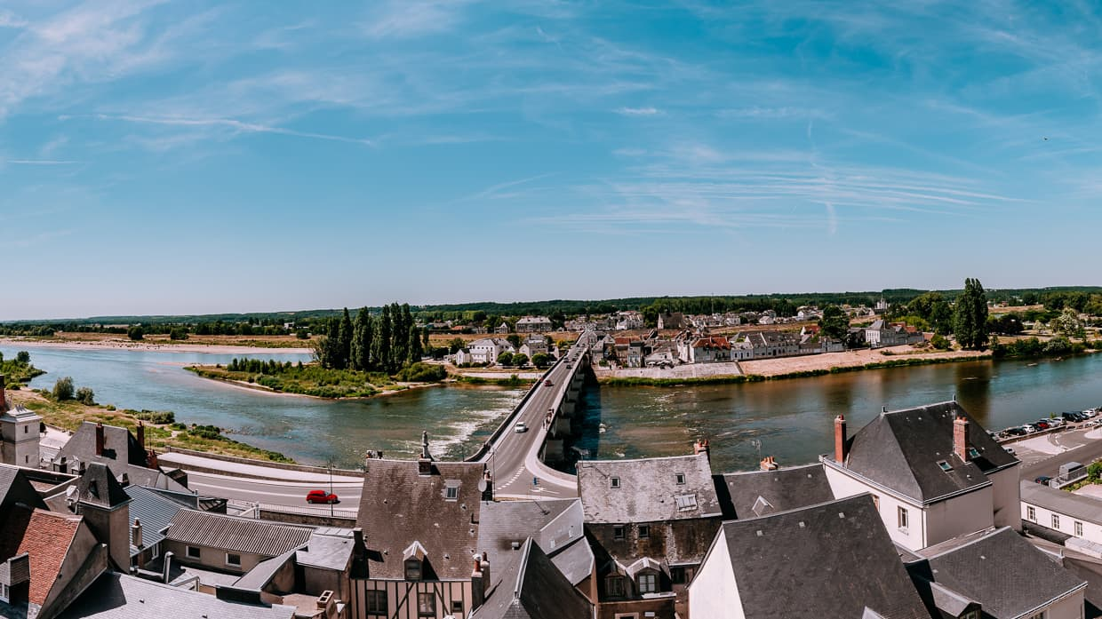 The Loire River in Amboise, France. Viewed from the Chateau Royale.