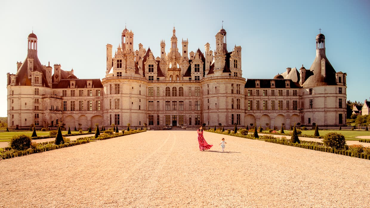 The Chateau de Chambord Gardens. Loire Valley.