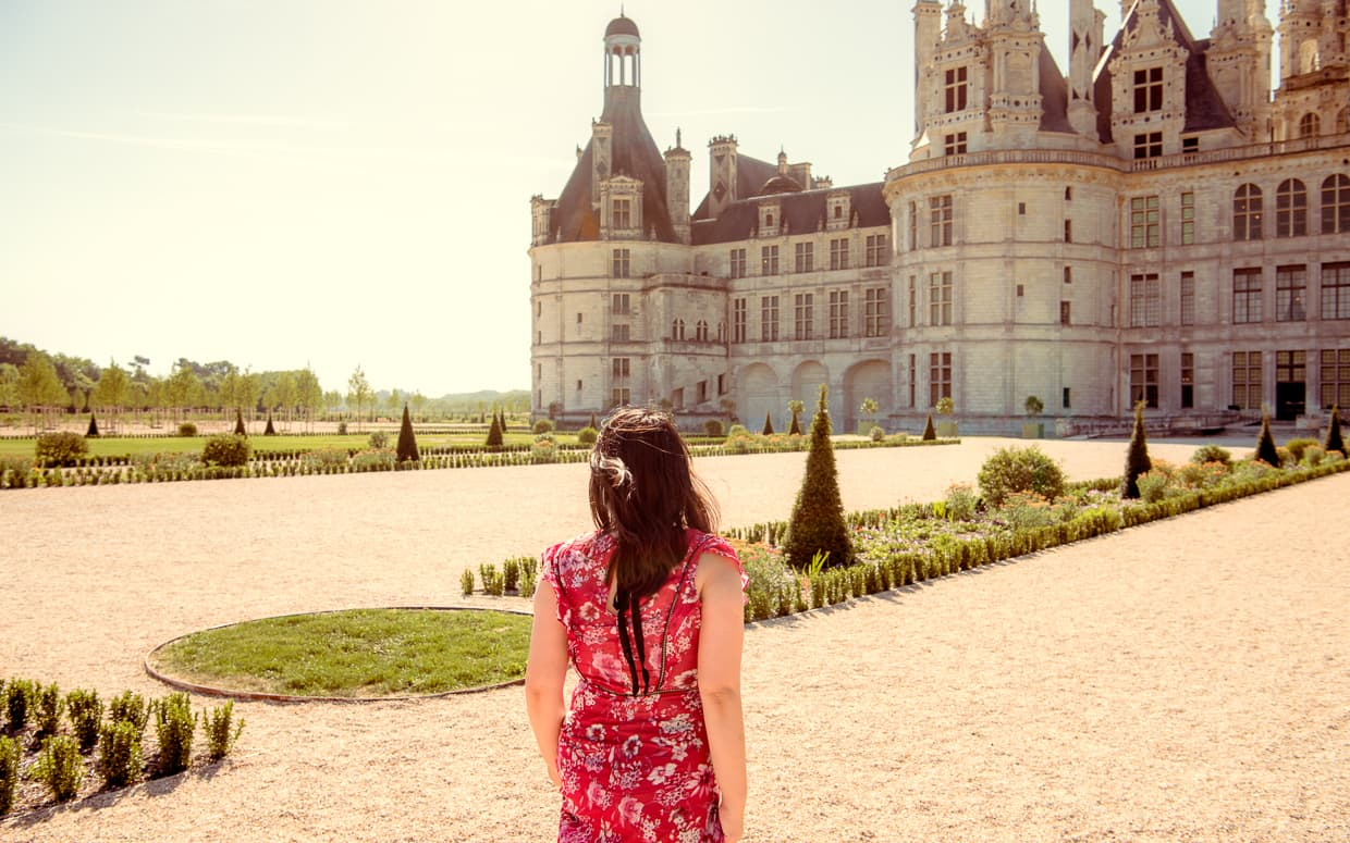 Walking through the Chateau de Chambord Gardens during our stay in the Loire Valley.