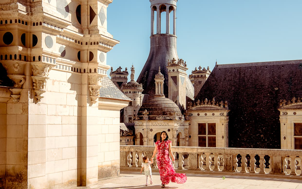 Chateau de Chambord's dramatic rooftop.