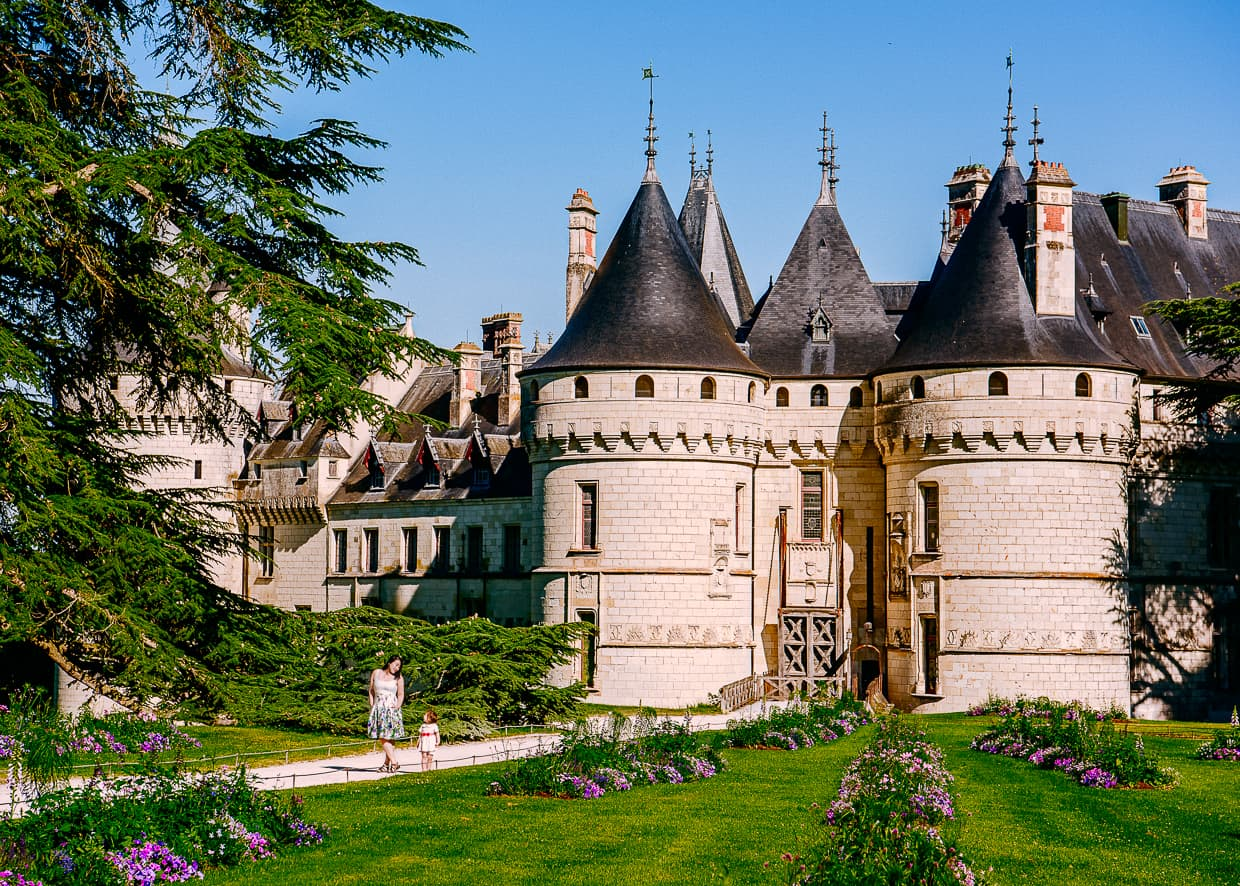 The Chateau de Chaumont in the Loire Valley in France.