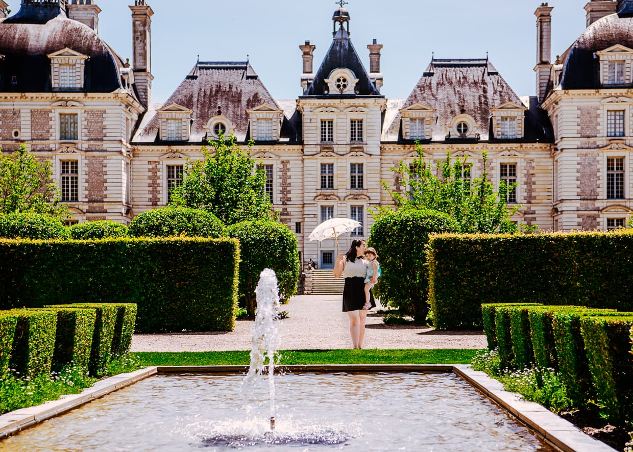 The Chateau de Cheverny in the Loire Valley of France.