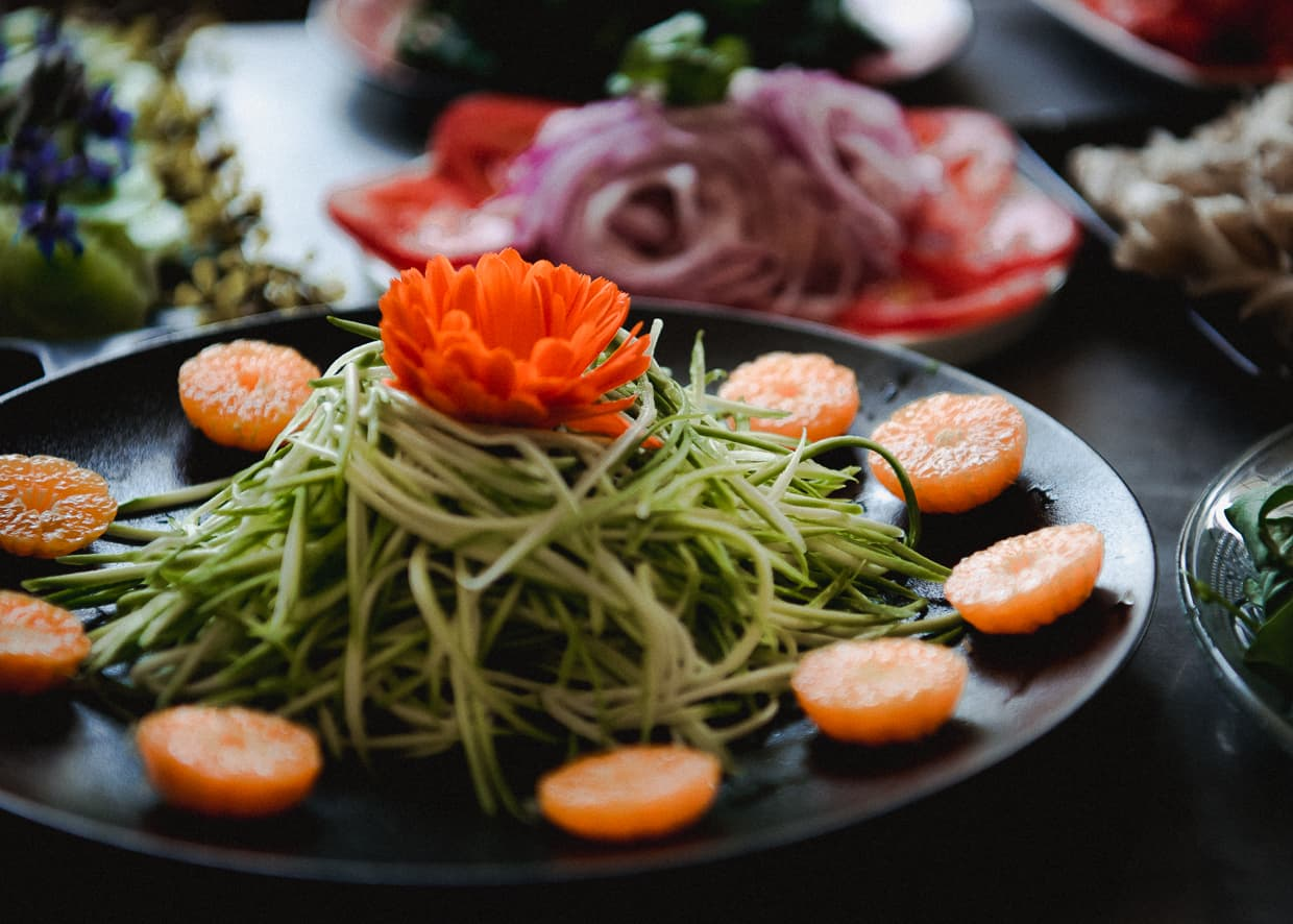 Artistic salads from the Black Dragon Cafe in Dali, China.