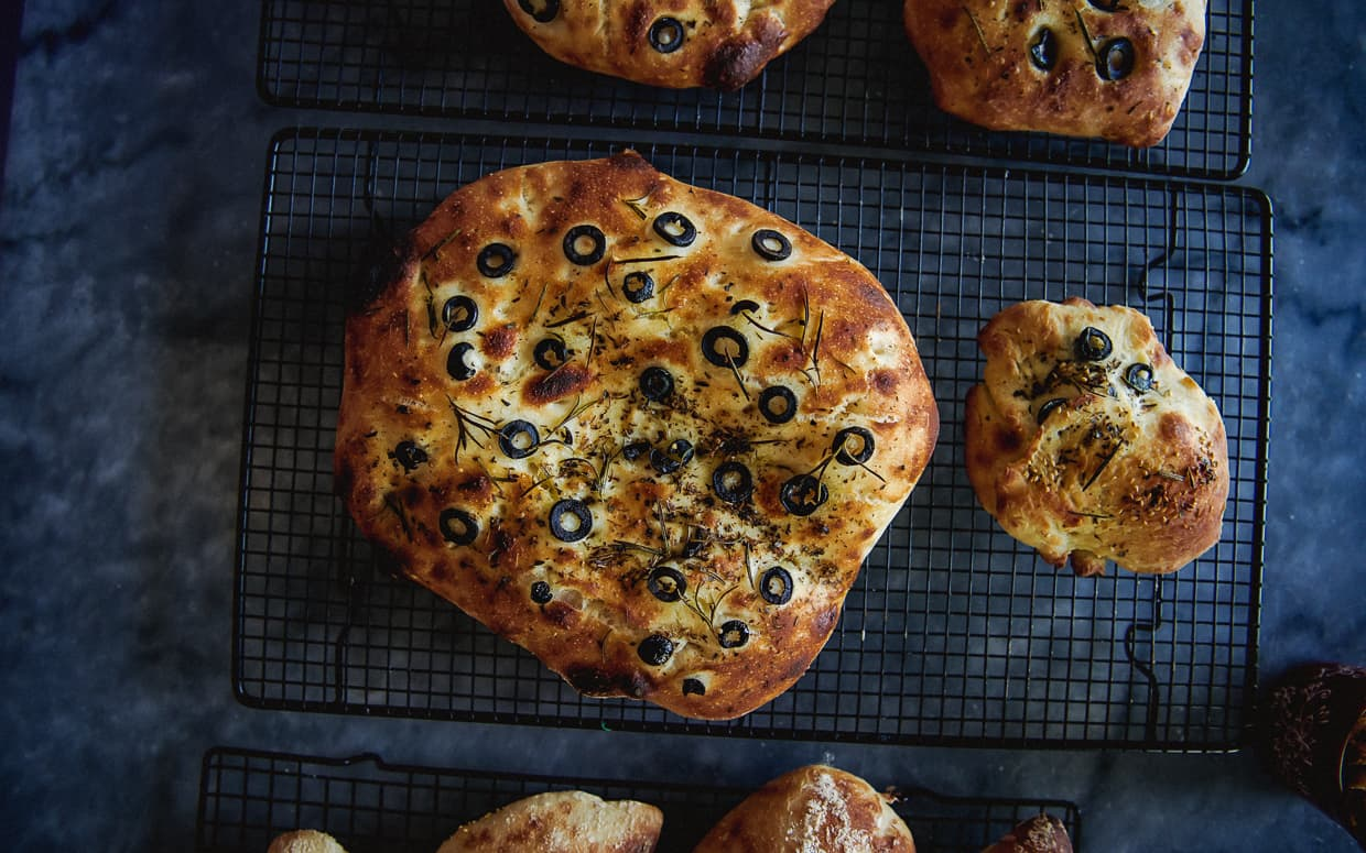 The home made focaccia bread from our baking class in Dali, China.