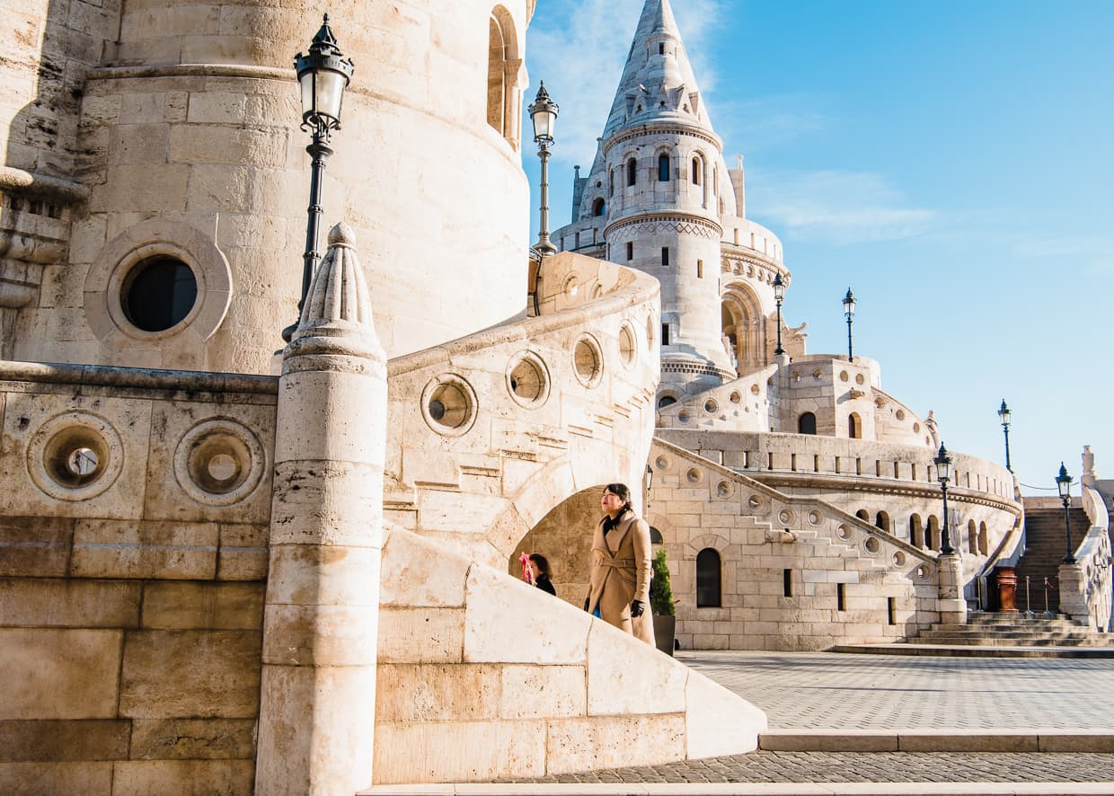 The Fisherman's Bastion in Budapest, Hungary.