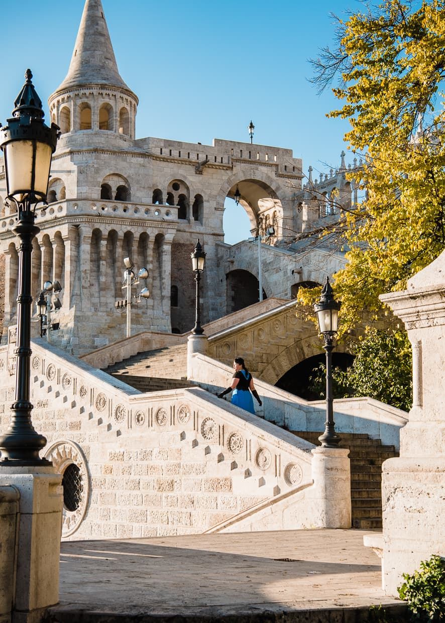 in Budapest, Hungary, at the Fisherman's Bastion.
