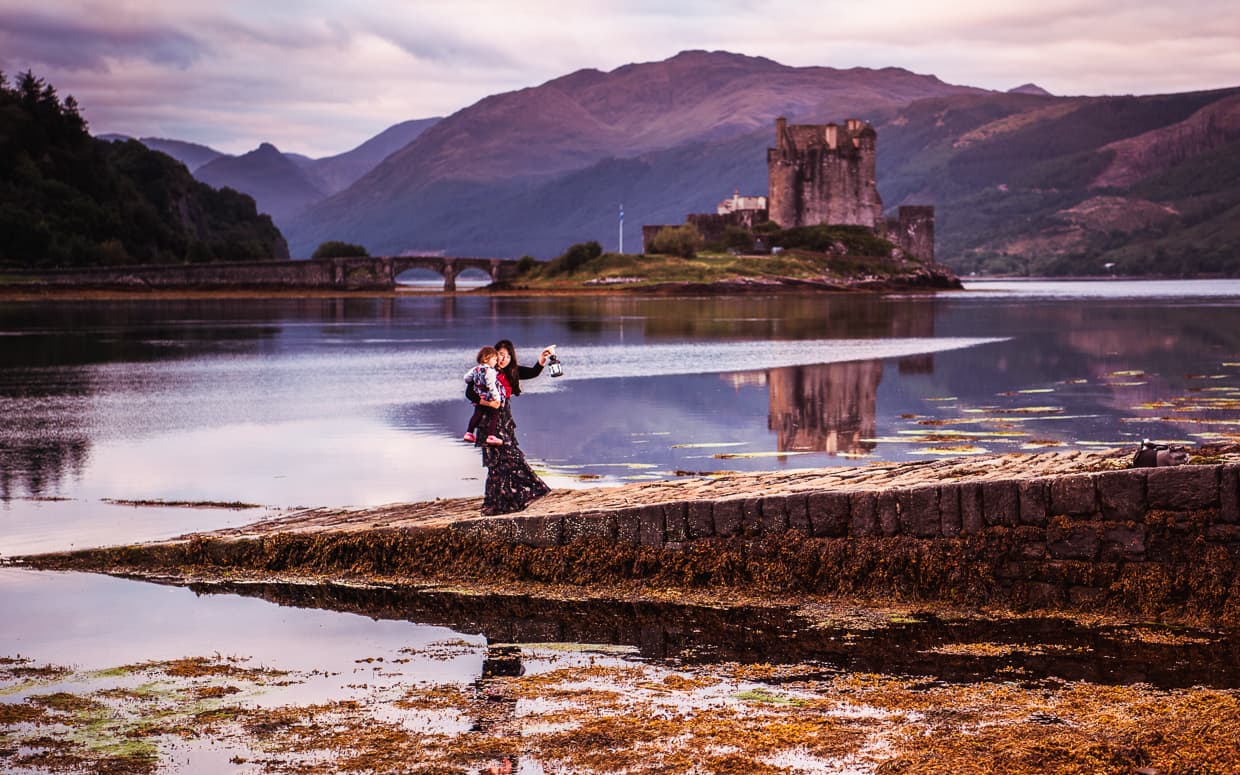 Eilean Donan Castle at Sunrise. Scotland.