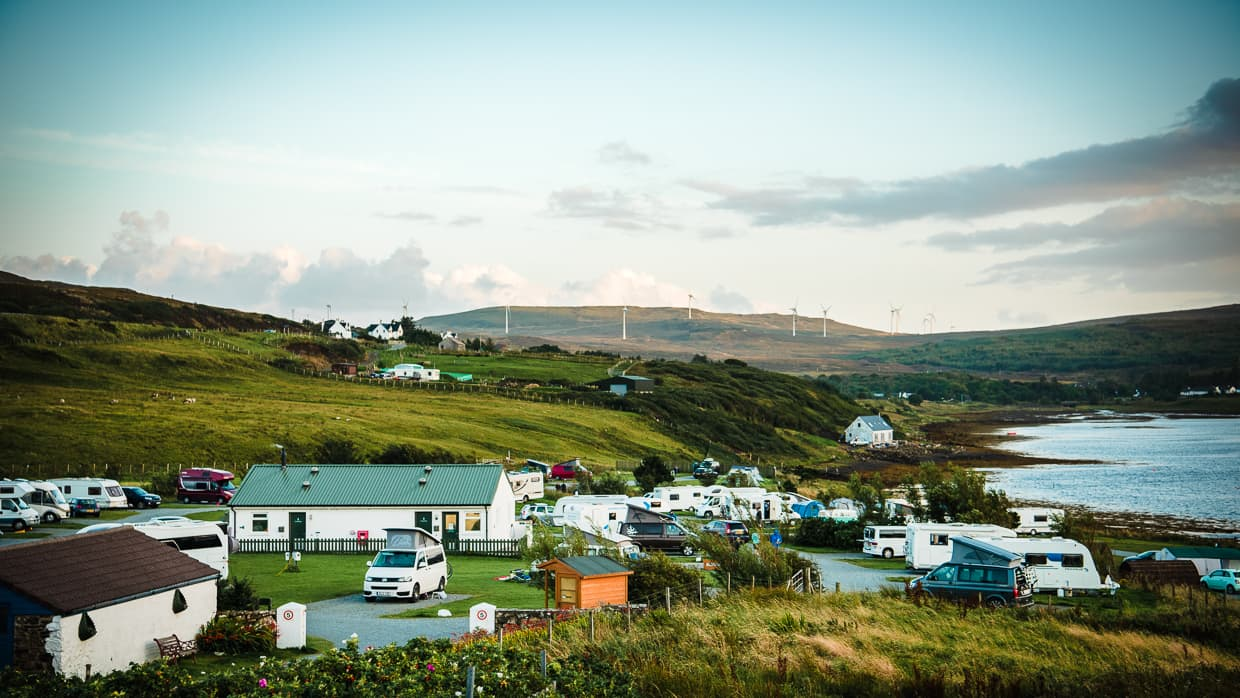 The Isle of Skye Camping and Caravanning Club Site.