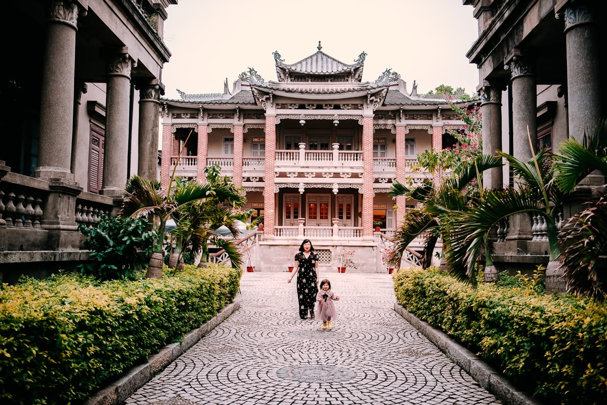 Exploring Hi Heaven architecture on GulangYu in Xiamen, China.