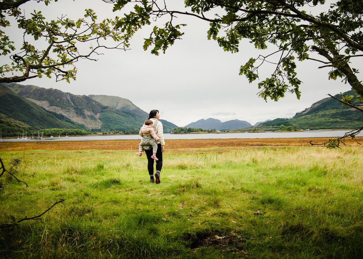 Exploring Loch Leven while Camping in Glencoe, Scotland.