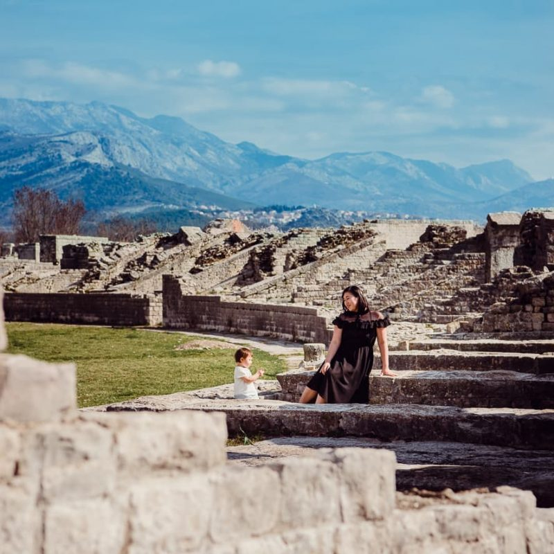 The Amphitheater of Salona near Split, Croatia.