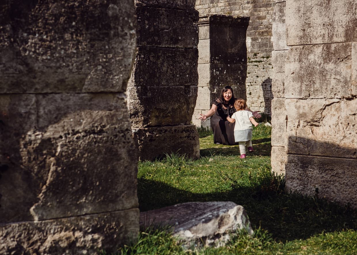 Exploring some of the ruins of Salona on our day trip from Split, Croatia.