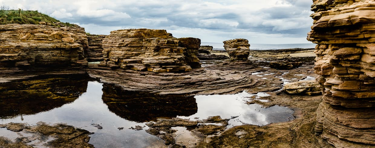 Cool rock formations we saw while camping in Dunbar, Scotland.