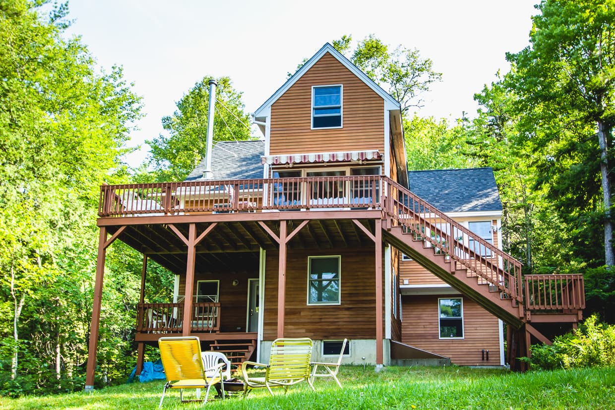 The cottage we stayed at near Bar Harbor, Maine.