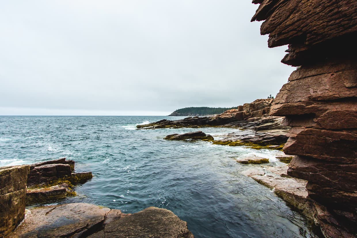 The Thunder Hole In Acadia National Park.