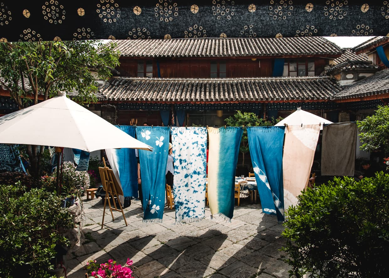 The courtyard where we took our tie dye lesson. Zhoucheng, Dali, Yunnan, China