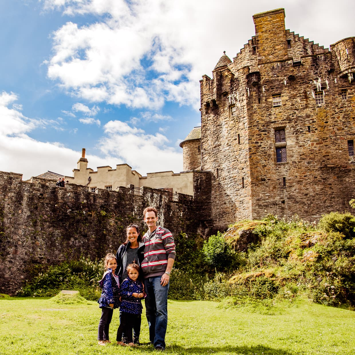 A family outing to Eilean Donan Castle near the Isle of Skye.
