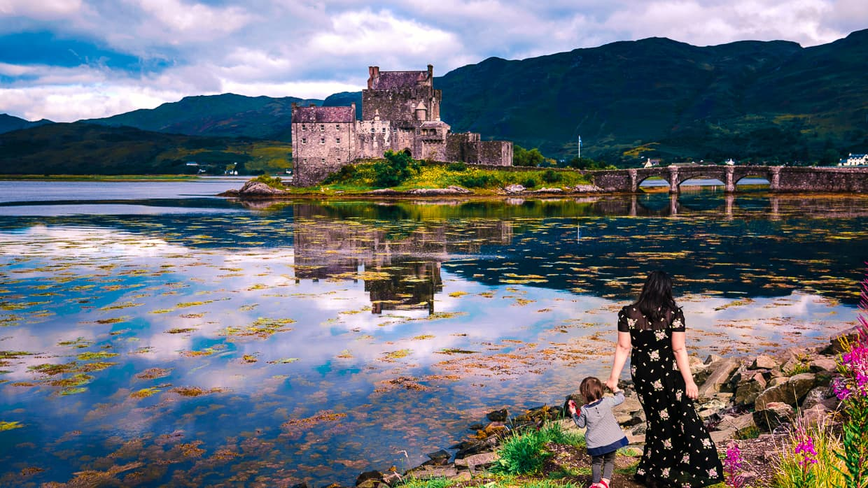 The view of Eilean Donan Castle during our day trip from the Isle of Skye.