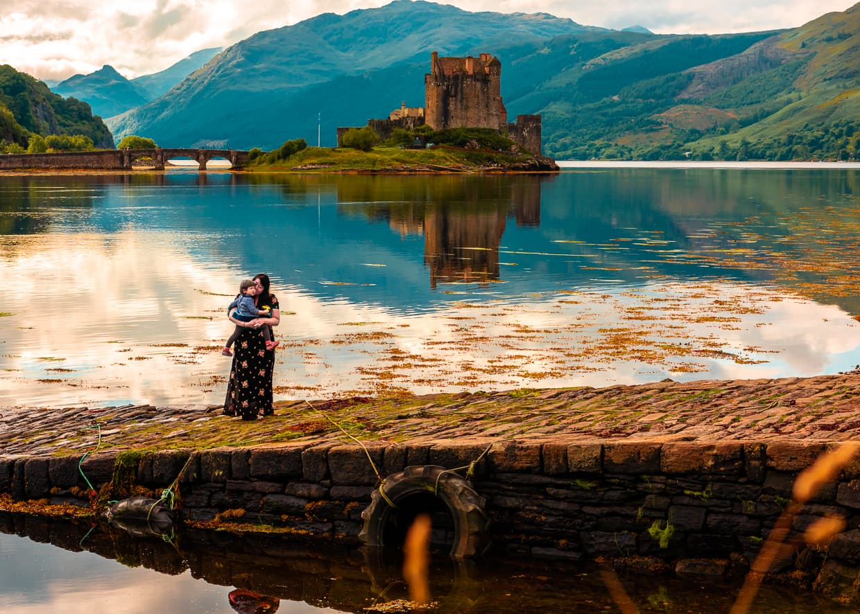 Eilean Donan Castle Reflecting on the water.