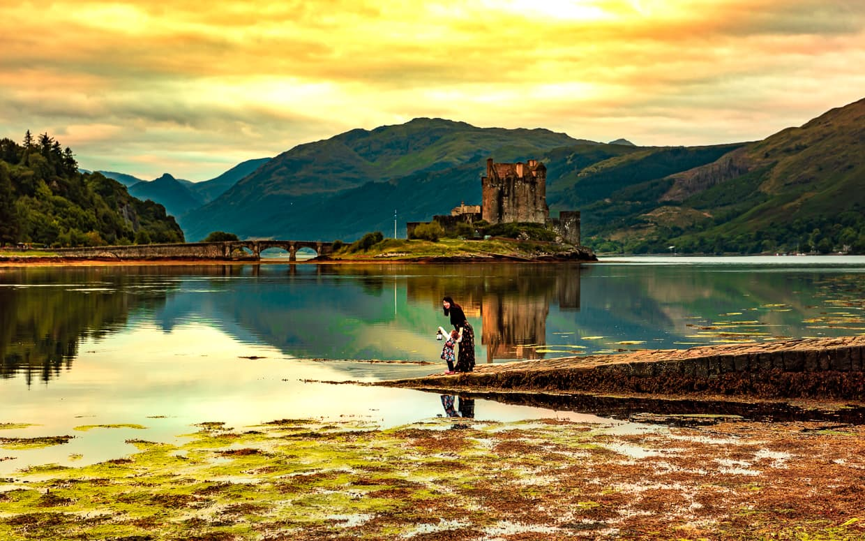 Eilean Donan Castle at Sunrise.