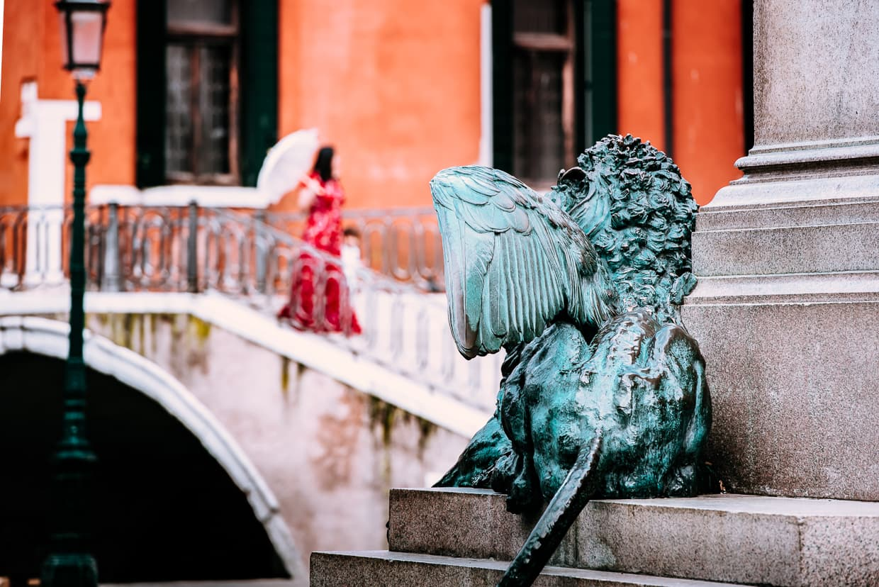 A winged lion in Venice, Italy.