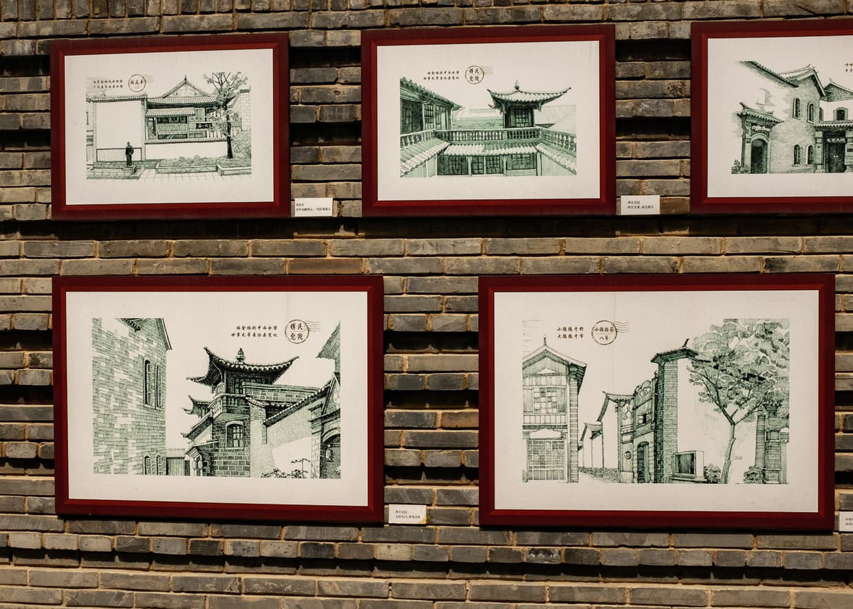 Examples of Ancient Chinese architecture.