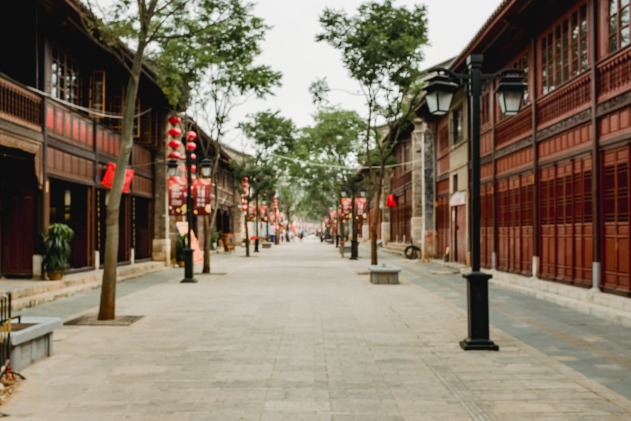 Beautiful architecture in Kunming, China Old street.