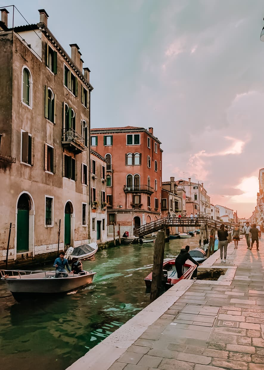 On foot in Venice, Italy.