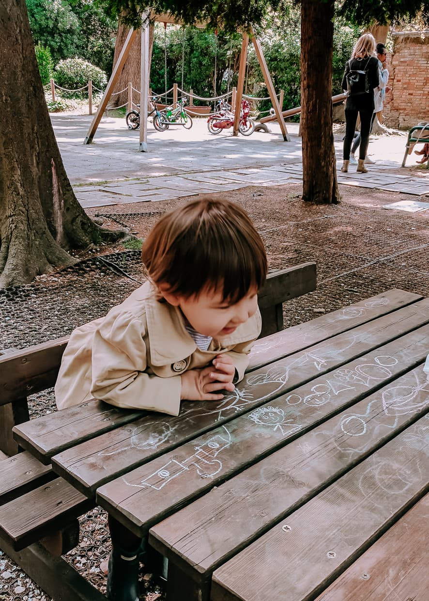 Toddler in a Venice Italy Playground