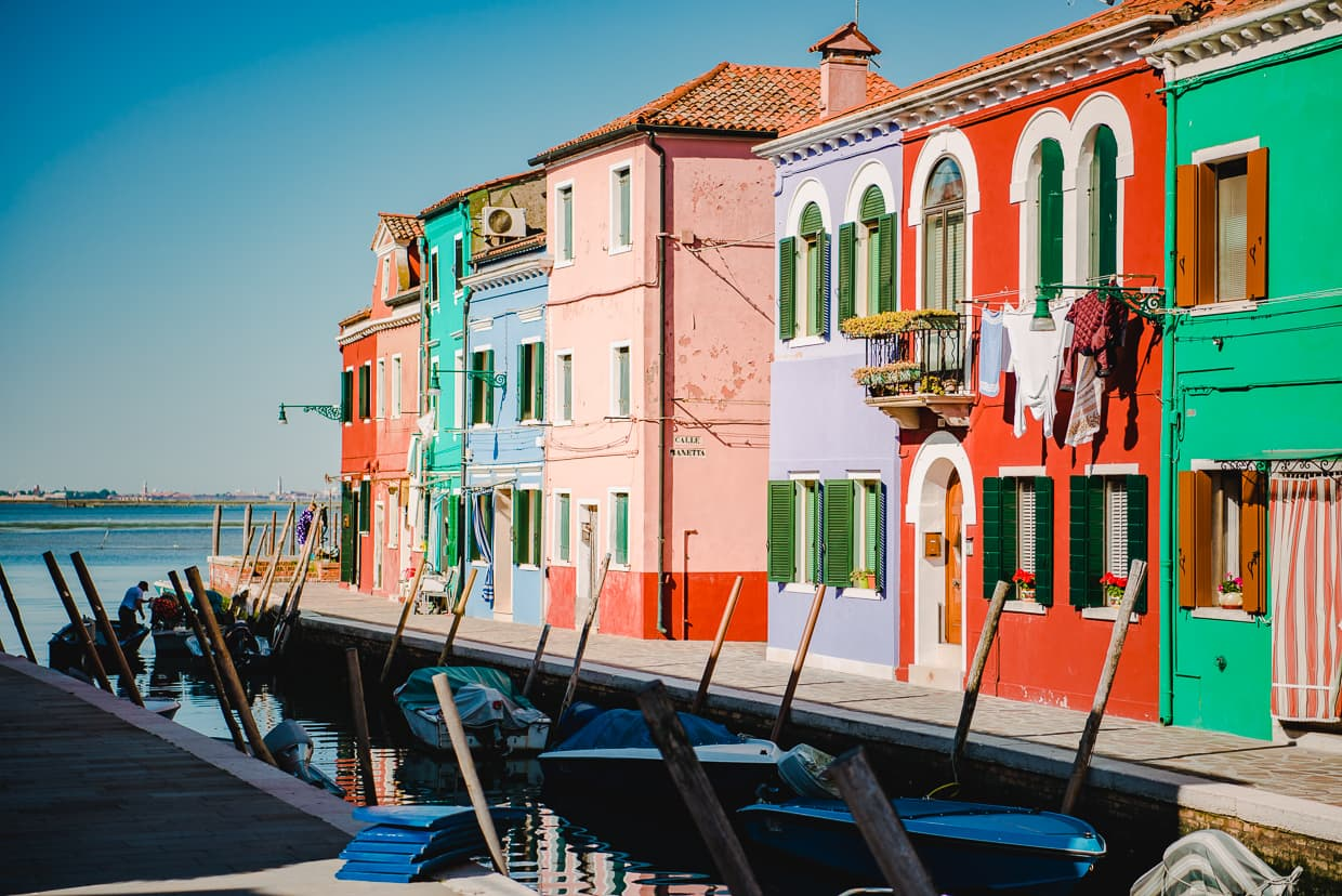 Sightseeing on the Island of Burano.