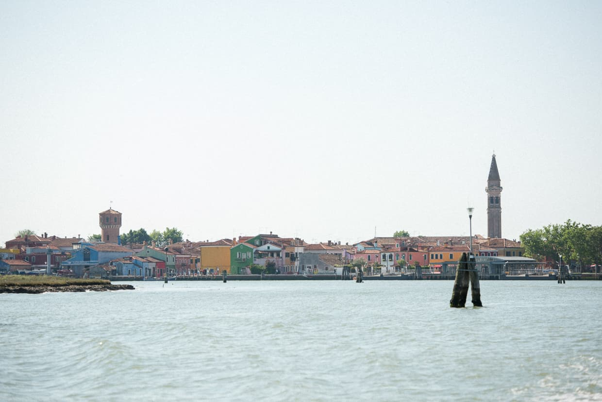 Towers over the Island of Burano, Italy.