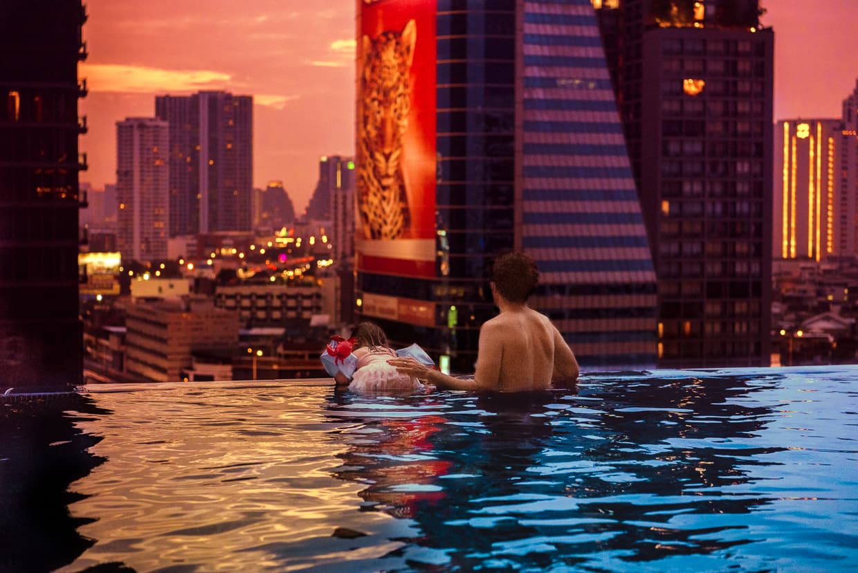 Bangkok infinity pool at the Eastin Grand Hotel Sathorn.