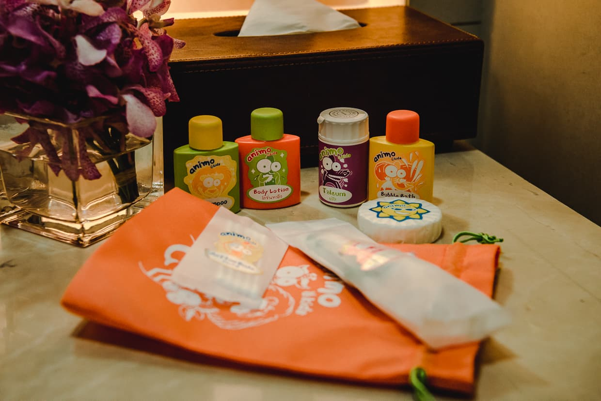 Children's soaps in Eastin grand hotel Sathorn.