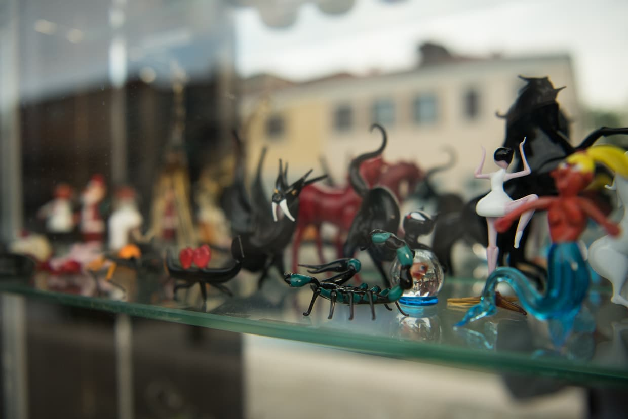 Murano glass figurines.