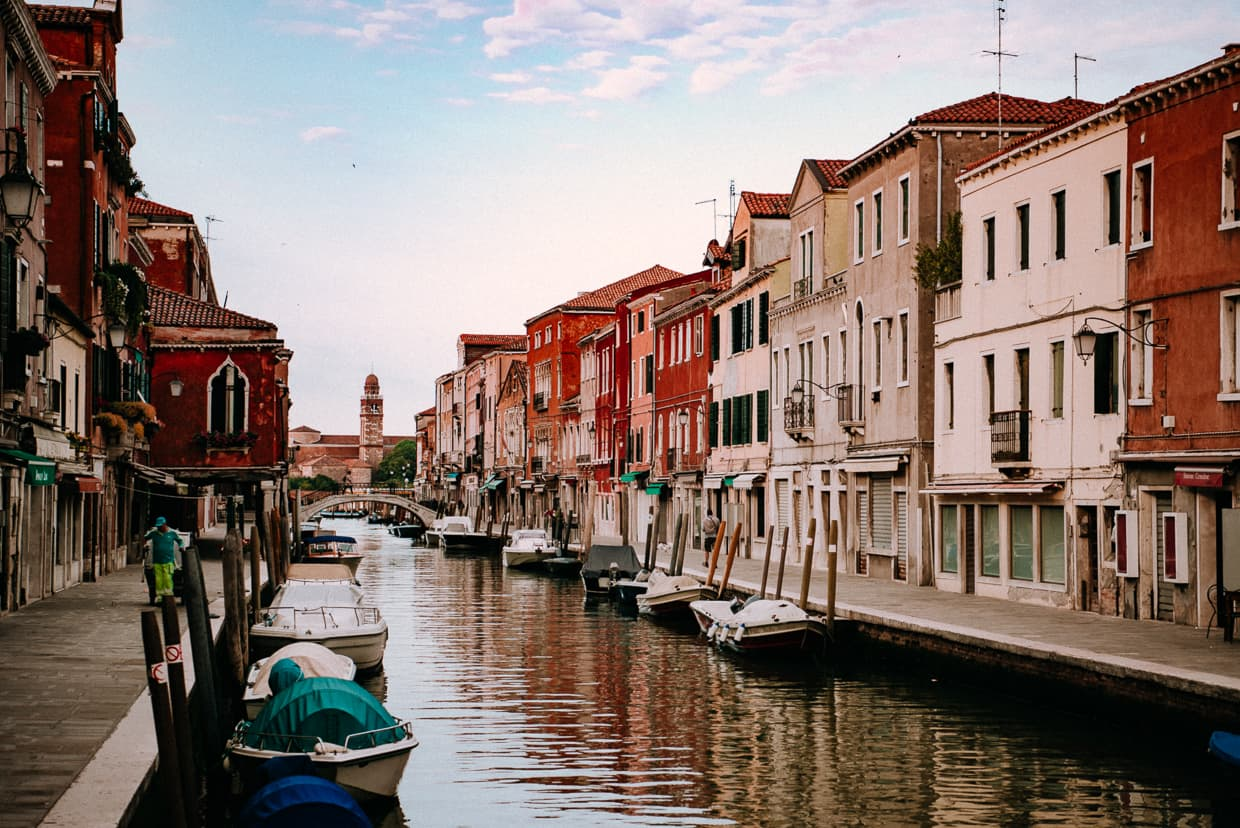 A Murano, Italy canal.