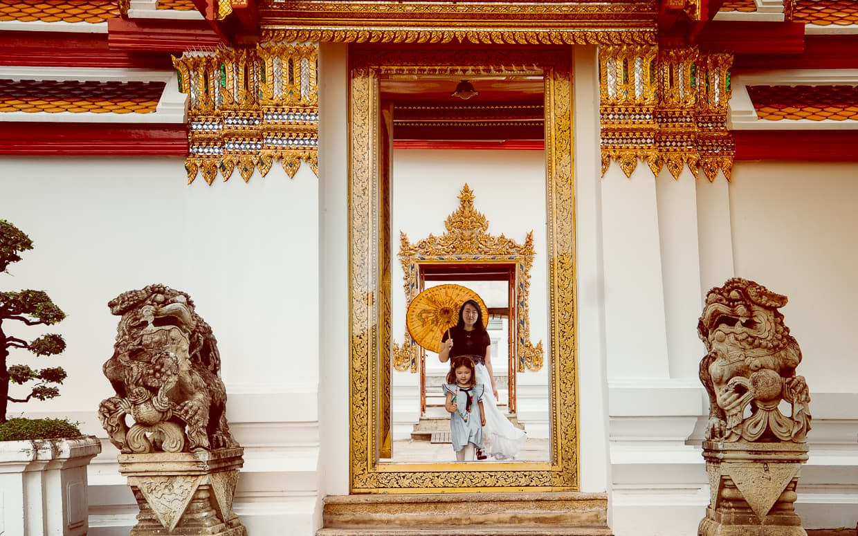 A doorway in Phra Ubosot at Wat Pho.