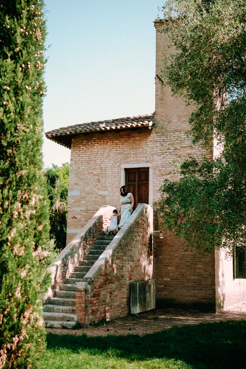 A stairway on the Venetian island of Torcello, Italy.