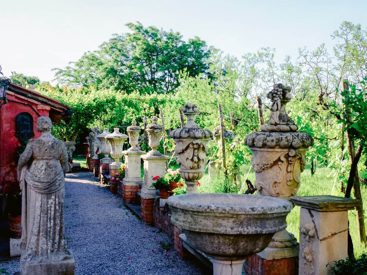 A garden path we saw on our island daytrip from Venice to Torcello.