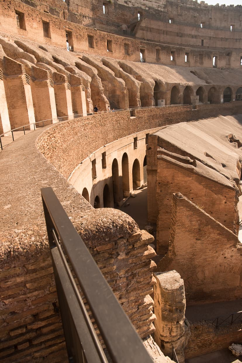 One part of a stitched photo of the Roman Colosseum