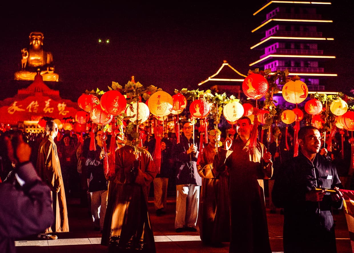 Lanterns in the Chinese New Year Parade at Fo Guang Shan.