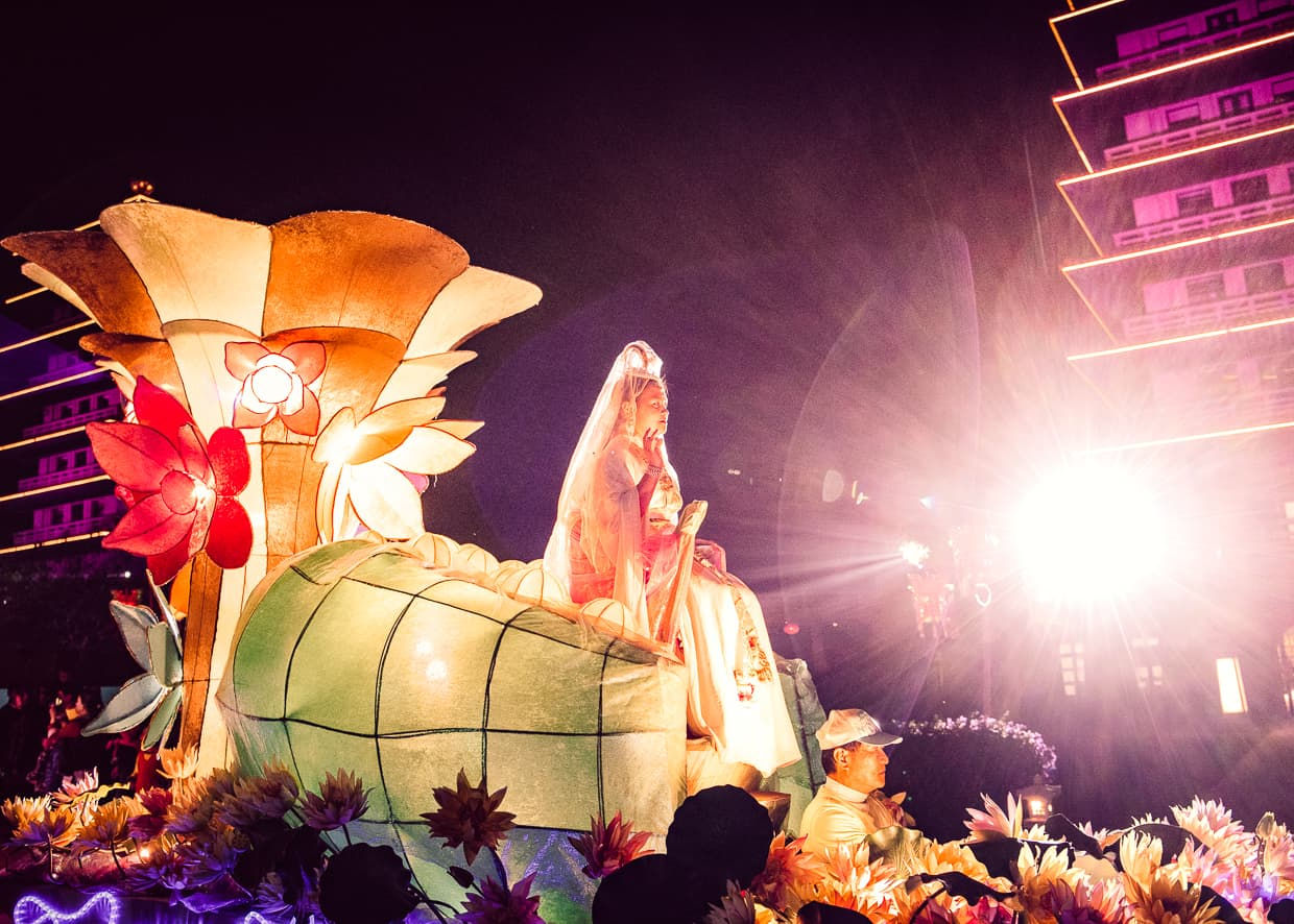 The Buddha of Compassion float in the Fo Guang Shan Chinese New Year Parade.
