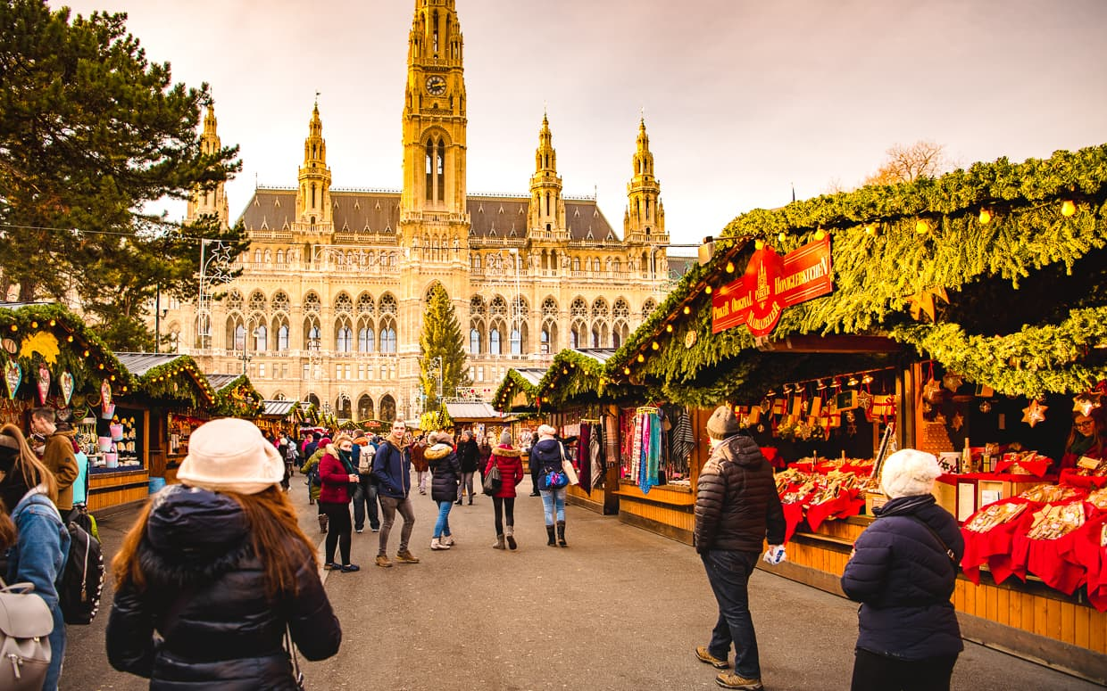 The Vienna Christmas Market in front of Rathaus.